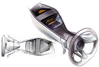 BMW Vision EfficientDynamics, Design Sketch Interior (08/2009)