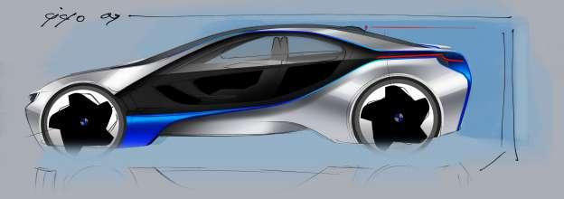 BMW Vision EfficientDynamics, Design Sketch Exterior (08/2009)