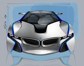 BMW Vision EfficientDynamics, Design Sketch Exterior (08/2009)