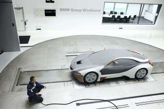 Aerodynamics model of the Concept Vehicle BMW Vision EfficientDynamics in the wind tunnel  (09/2009)