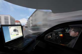 Research project Head-Up Display Max - Interactive Operation integration - Tests in the driving simulator (10/2009)