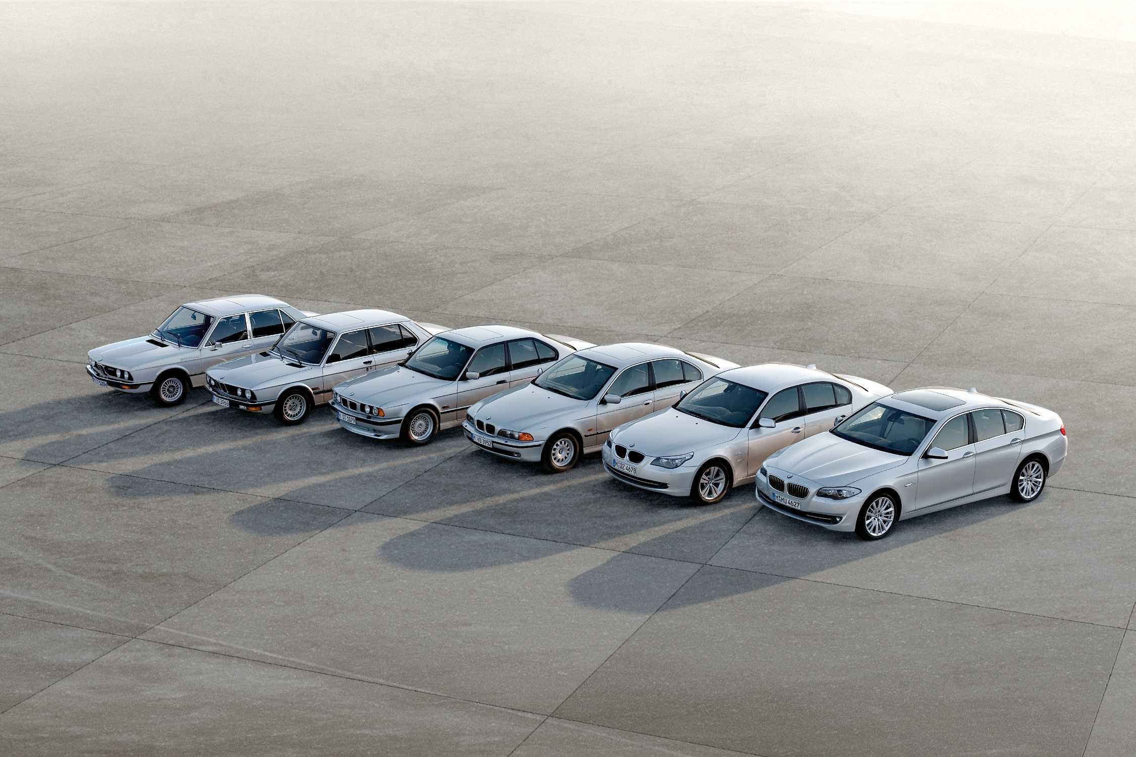 6 générations de BMW