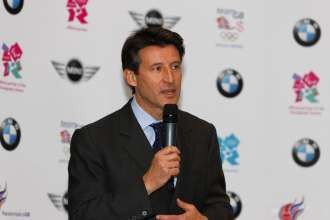 London, 18 November 2009.  BMW announced as automotive partner of London Olympic and Paralympic Games.  Lord Sebastian Coe, Chairman of the London Organising Committee of the Olympic Games and Paralympic Games (LOCOG) today announced that BMW has become the Automotive Partner of London 2012.   (UK 11/09)