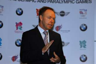 London, 18 November 2009.  BMW announced as automotive partner of London Olympic and Paralympic Games.  Ian Robertson, member of the board of management of BMW AG, responsible for sales and marketing.   (UK 11/09)