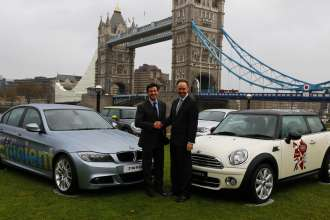 BMW announced as automotive partner of London Olympic and Paralympic Games 2012.  From left to right: Lord Sebastian Coe Chairman of LOCOG and Ian Robertson, member of the board of management of BMW AG, responsible for sales and marketing.  (UK 11/09)