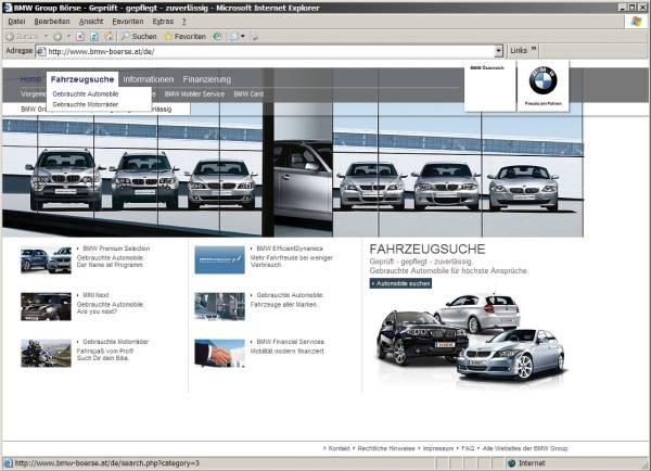 Relaunch BMW Group Gebrauchtwagenboerse Österreich (01/2010)