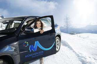 Katarina Witt with the BMW X6 (02/2010)