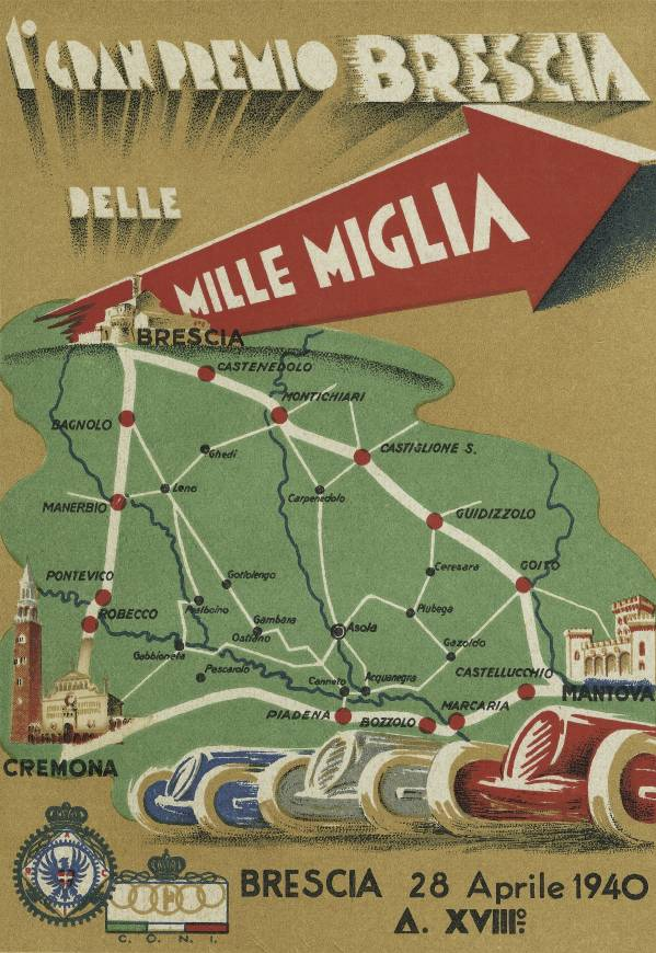 "Poster for the 1940 ""Mille Miglia"" (03/2010)"