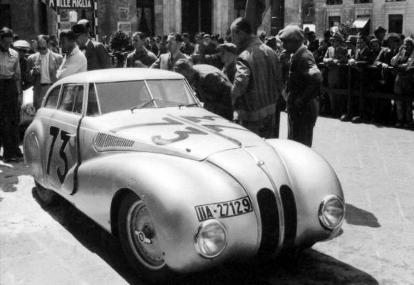 "BMW 328 ""Mille Miglia"" Kamm Racing Saloon at the 1st Italian Mille Miglia Grand Prix in Brescia, April 28, 1940 (03/2010)"