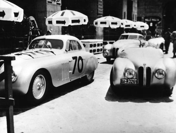 "BMW 328 ""Mille Miglia"" cars scrutineering for the 1st Italian Mille Miglia Grand Prix in Brescia, April 28, 1940 (03/2010)"
