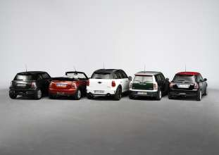 The MINI Family. MINI, MINI Clubman, MINI Convertible, MINI Countryman and MINI John Cooper Works. (09/2010)