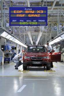 After 605.498 produced first generation BMW X3 production ceased on August 31st. 2010 in Graz. (09/2010)