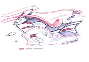 BMW K 1600 GTL, design sketch (10/2010)