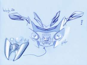 BMW K 1600 GT, BMW K 1600 GTL, design drawing (10/2010)