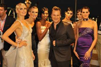 BMW at the Monaco Yacht Show:  Fashion designer Guido Maria Kretschmer with models (09/2010)