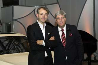 Adrian van Hooydonk, Senior Vice President BMW Group Design und Werner Husmann, Director Marketing & Sales Steinway & Sons at the BMW Individual 7 Series Composition inspired by Steinway & Sons Launch (11/2010).