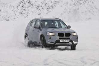 The new BMW X3 on winter tyres - Solden, Austria