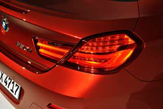 The new BMW 6 Series Coupe - Exterior, rear lights with LED technology. Lights on (03/2011).