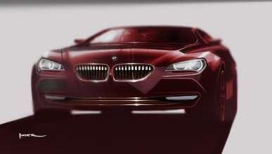 Exterior sketch of Nader Faghihzadeh, Exterior Designer BMW 6 Series Coupe (03/2011).