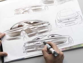 Sketches - First sketches of the BMW 6 Series Coupe (03/2011).