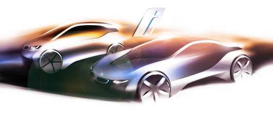 Design sketch BMW i3 and BMW i8 (02/2011).