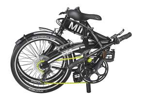The MINI Folding Bike can be folded and unfolded in just a few seconds. (04/2011)