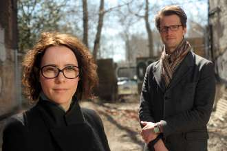 Elma van Boxel and Kristian Koreman, Architects and urbanists, Founders, ZUS (Zones Urbaines Sensibles), BMW Guggenheim Lab Team Members - New York, © The Solomon R. Guggenheim Foundation, New York (05/2011)