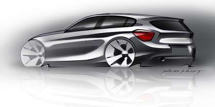 The new BMW 1 Series, Design Sketch (05/2011)