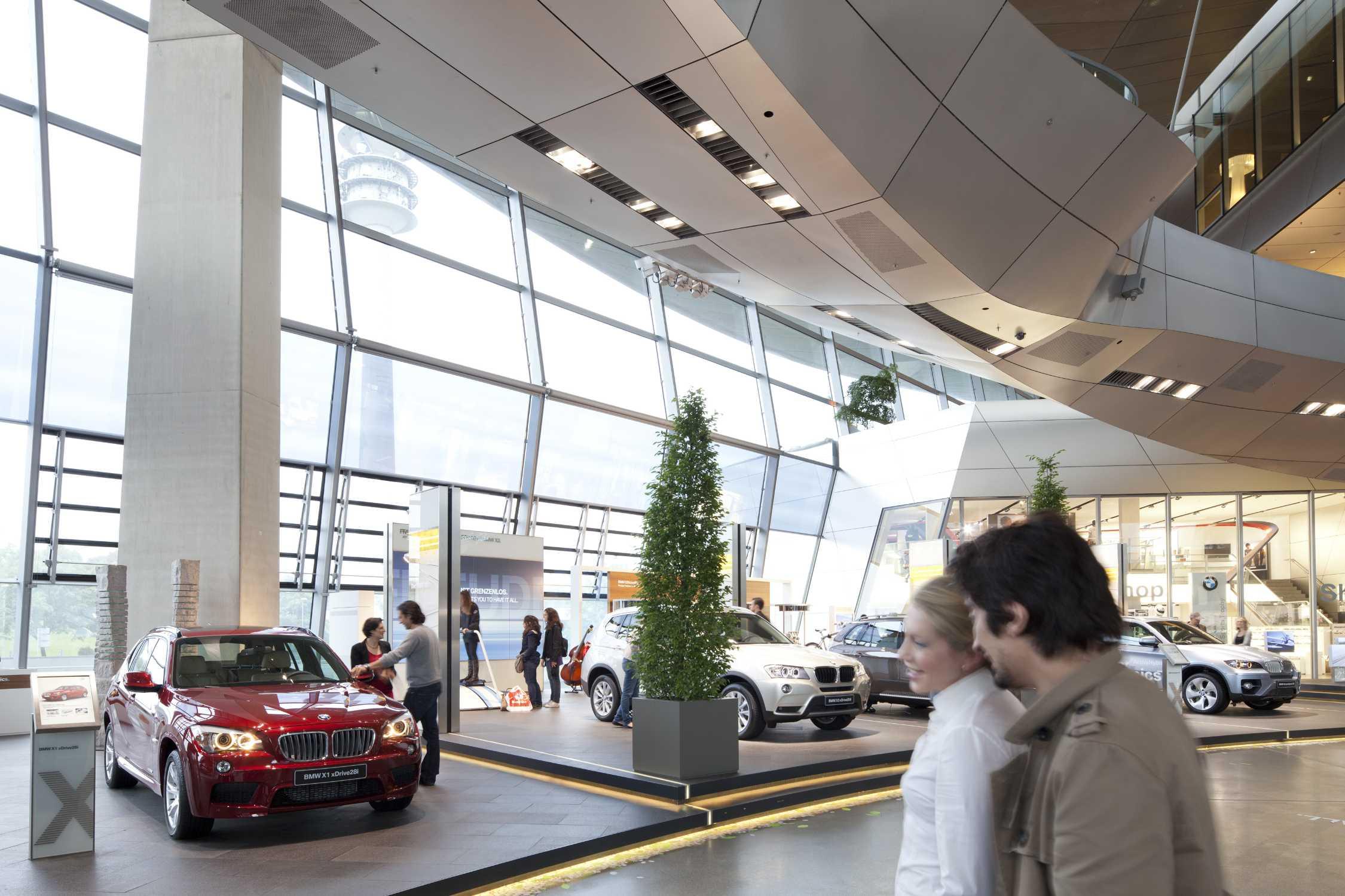 Bmw Welt Interior View Plaza Automobile Presentation 05 2011