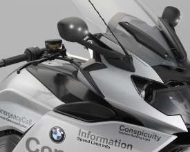 BMW Motorrad ConnectedRide. Advanced Safety Concept. Rear view mirror incl. LEDs (07/2011)