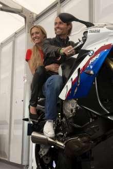 BMW Motorrad Days 2011, Sven Hannawald und Alena Gerber (07/2011)