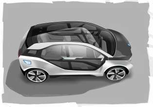 BMW i3 Concept, Design sketch (07/2011)