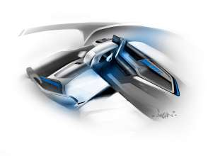 BMW i3 Concept, Interior Design sketch (07/2011)