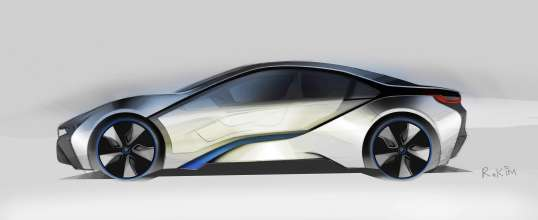 BMW i8 Concept, Design sketch (07/2011)