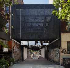 BMW Guggenheim Lab New York City Design architect: Atelier Bow-Wow Exterior view from East First Street Photo: Paul Warchol © Solomon R. Guggenheim Foundation (8/2011)