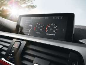 New BMW 3 Series: Performance display in on-board monitor (10/2011)