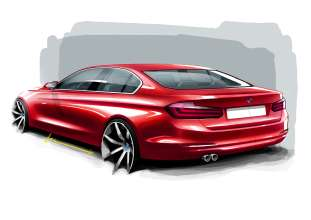 The new BMW 3 Series Sedan, Exterior Sketch (10/2011)
