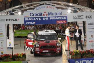 MINI WRC 2011. Rally de France, 30 September-2 October 2011. Ceremony (10/2011).