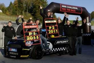Team GIGAMOT: Nico Bastian, Hendrik Vieth, MINI Challenge - 08 Salzburgring, Rundstreckentrophyy (10/2011)