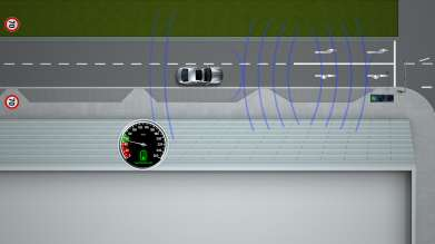 The traffic light asssistant (green light) by BMW ConnectedDrive - a Car-2-X Technology (10/2011)