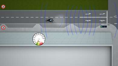 The traffic light assistant (green light) by BMW Motorrad ConnectedRide - a Car-2-X Technology (10/2011)