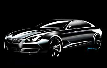 Exterior Sketch by Nader Faghihzadeh, Exterior Designer BMW 6 Series Gran Coupe (12/2011).