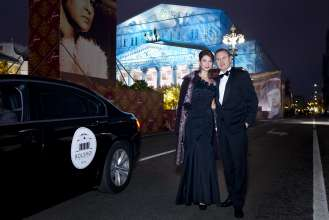 BMW at the reopening of the Bolshoi Theatre: Peter Kronschnabl, President BMW Group Russia and companion (11/2011).