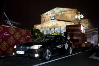 BMW at the reopening of the Bolshoi Theatre: BMW 7 Series VIP Shuttle (11/2011).