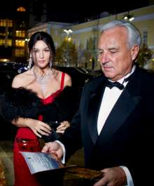 BMW at the reopening of the Bolshoi Theatre: Hollywood Star Monica Bellucci; Bernard Fournas, CEO Cartier International (11/2011).