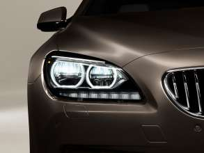 The new BMW 650i Gran Coupe, Exterior: Adaptive LED Headlights, parking lights (12/2011).