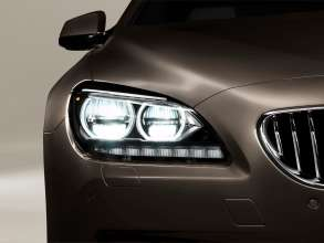 The new BMW 650i Gran Coupe, Exterior: Adaptive LED Headlights, daytime running lights (12/2011).