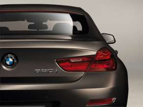 The new BMW 650i Gran Coupe, Exterior: LED-rear lights, lights off (12/2011).
