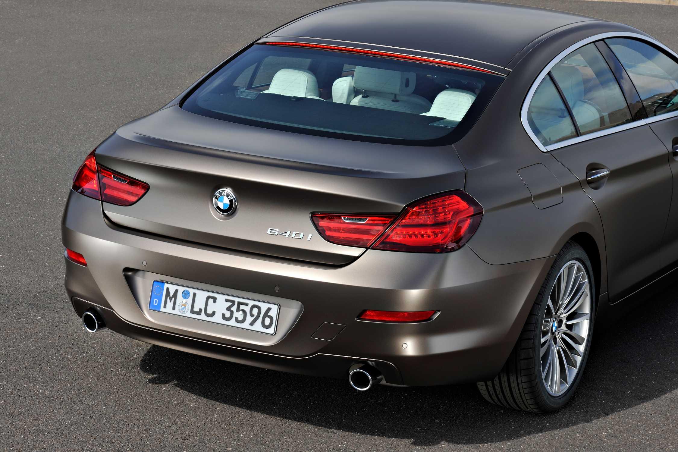 The new BMW 640i Gran Coupe LED rear lights brake light on 12