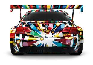Rear view of the BMW M3 GT2 Art Car Jeff Koons
